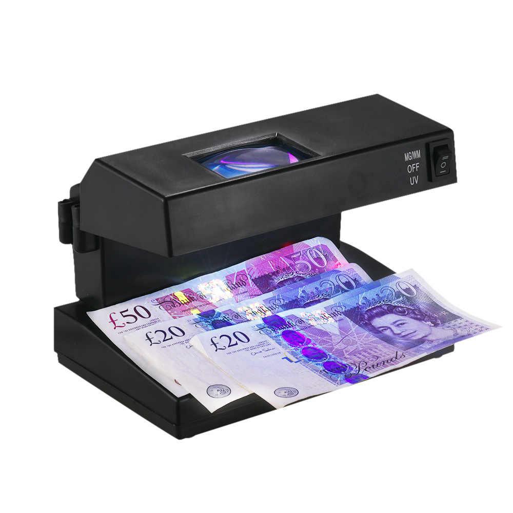 Lámpara dinero falso verificador portátil UV detector lámpara luz Kontrol