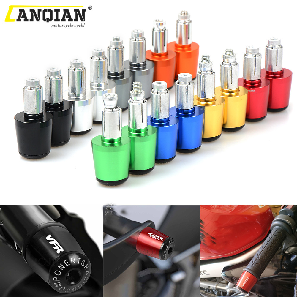 22mm CNC Universal Motorcycle Handlebar Counterweight Grips Ends For Kawasaki ninja zx6r zx9r zx12r z800 z750 Z250 ER6N/F image