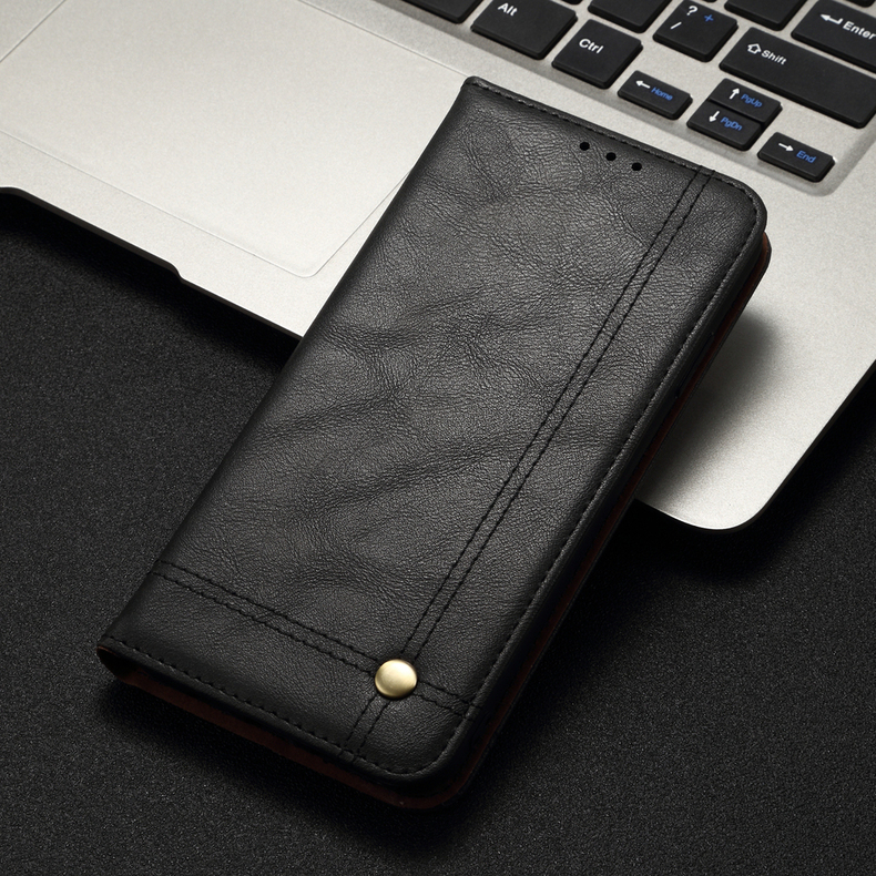 H021e1719608445a184838d3c04e96f67V Luxury Retro Slim Leather Flip Cover For Xiaomi Redmi Note 8 / 8T / 8 Pro Case Wallet Card Stand Magnetic Book Cover Phone Case