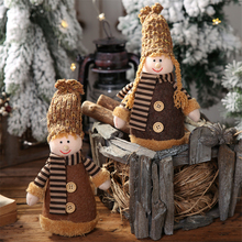 2019 Xmas New Years and Christmas Knit Cap Dolls Boys Girls Decorations Creative gift for home