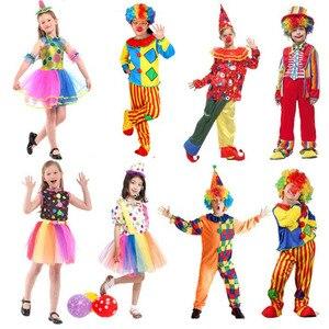 Image 2 - Vacances drôle Clown Costume enfants garçon fille Joker Costume Cospaly fête habiller Clown Costume Halloween Costume enfants noël