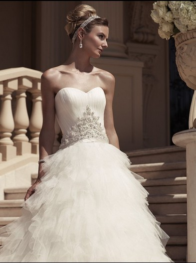 Casamento Romantic Seweetheart Tiered Vestido De Noiva Longo 2018 Sexy New Fashionable  Bridal Gown Mother Of The Bride Dresses