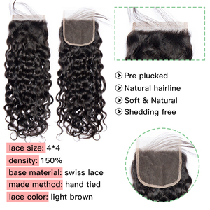 Image 5 - Indian Water Wave Bundles With Lace Closure Human Hair Vip Beauty Hair Weave 3 Bundles With Closure Remy Hair Extension