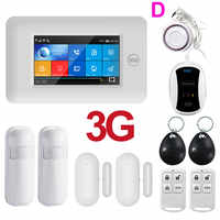PGST 3G IOS Android WIFI Wireless House Home Security Alarms System APP Control Kit with Alexa Fuction Burglar Alarm for Home