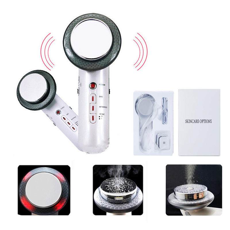 Ultrasonic Cavitation Body Slimming Machine Fat Burning Face Lifting Tool Cavitation Cellulite Massager With EMS Tens Electrode
