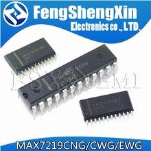 5 pçs max7219cng dip 24 max7219cwg max7219ewg max7219 sop 24 drivers de exibição led ic