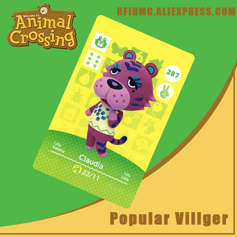 287 Claudia Animal Crossing Card Amiibo For New Horizons