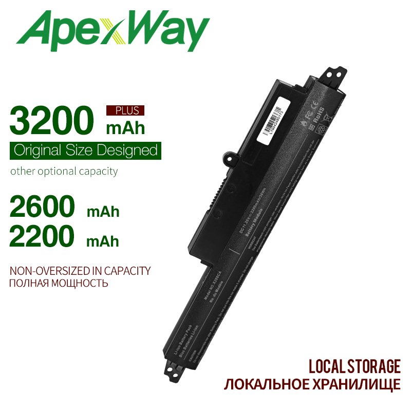 ApexWay Laptop Battery A31LMH2 A31N1302  For ASUS For VivoBook X200CA X200MA X200M X200LA F200CA 200CA 11.6