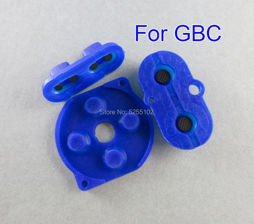 7 Colors rubber conductive button A-B d-pad for Game Boy Color GBC shell housing silicon start select keypad(China)