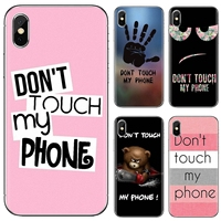Non toccare il mio telefono per LG K10 K8 K7 K4 Nokia X6 2 3 5 6 8 9 230 3310 2.1 3.1 5.1 7 Plus 2017 2018 custodia in Silicone