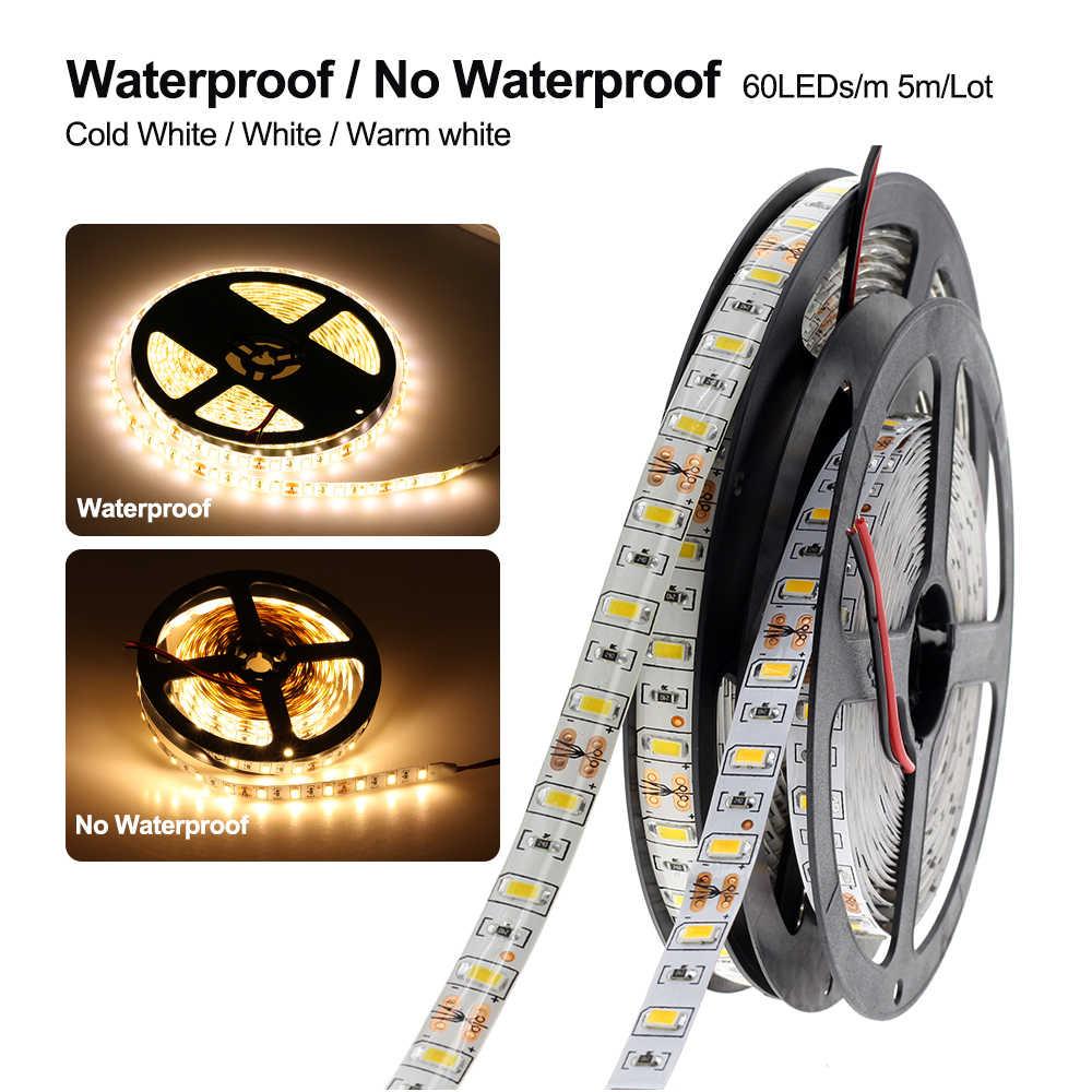 Bright 1M 2M 3M 5M DC12V 5630 LED Flexible Strip Light 60LED//M non-waterproof