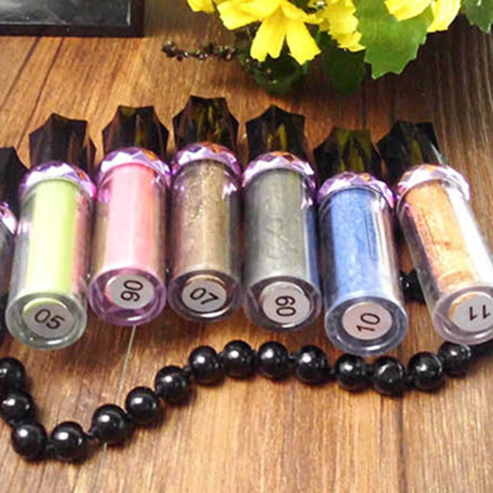 Kobiety makijaż brokat długotrwały wodoodporny cień do powiek rolki Pigment sypki proszek cień do powiek makijaż dostaw
