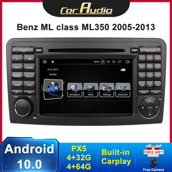 PX5 car radio 2 DIN Android 10 For Mercedes ML W164 X164 ML350 ML300 GL500 ML320 ML280 GL350 autoradio audio stereo navigation image