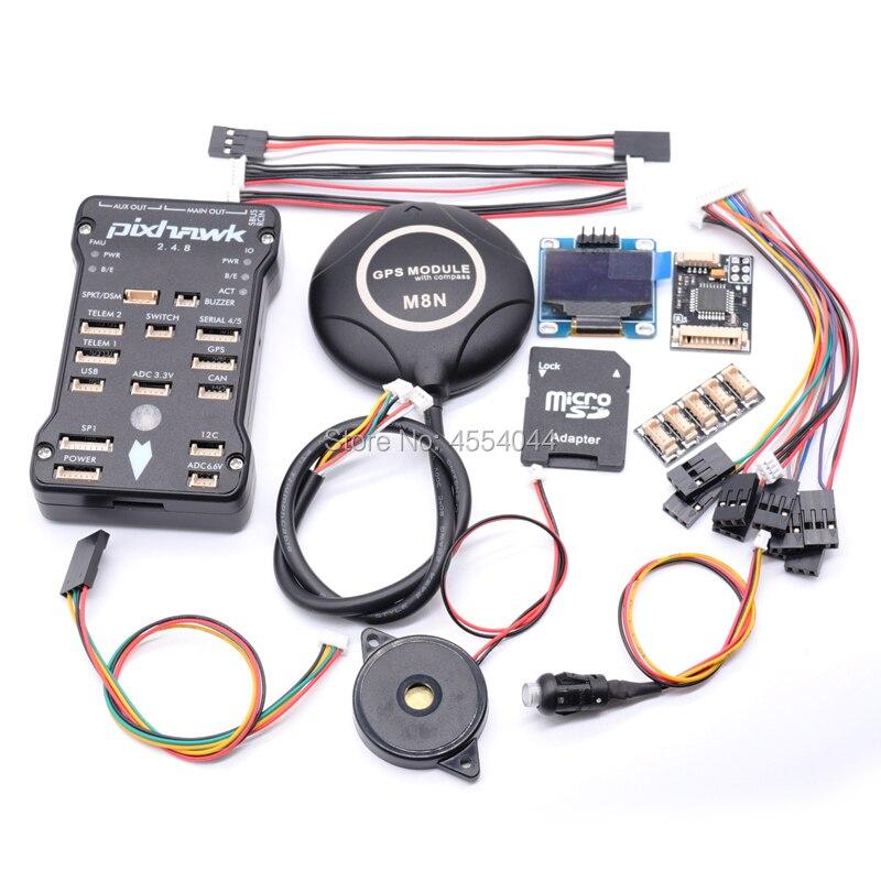 Controlador de vuelo PIXHAWK PX4 32Bit NEO-7M GPS 915 MHz módulo de alimentación I2C OSD ppm