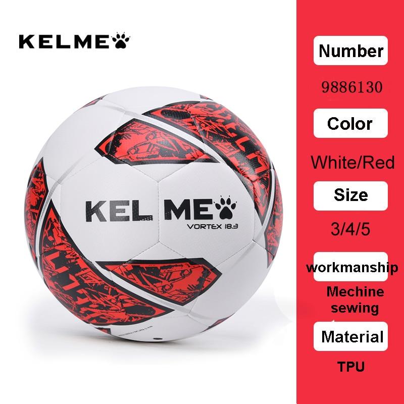 KELME Professional Football Soccer Ball TPU Size 3 Size 4 Size 5 Red Green Goal Team Match Training Balls 9886130 17