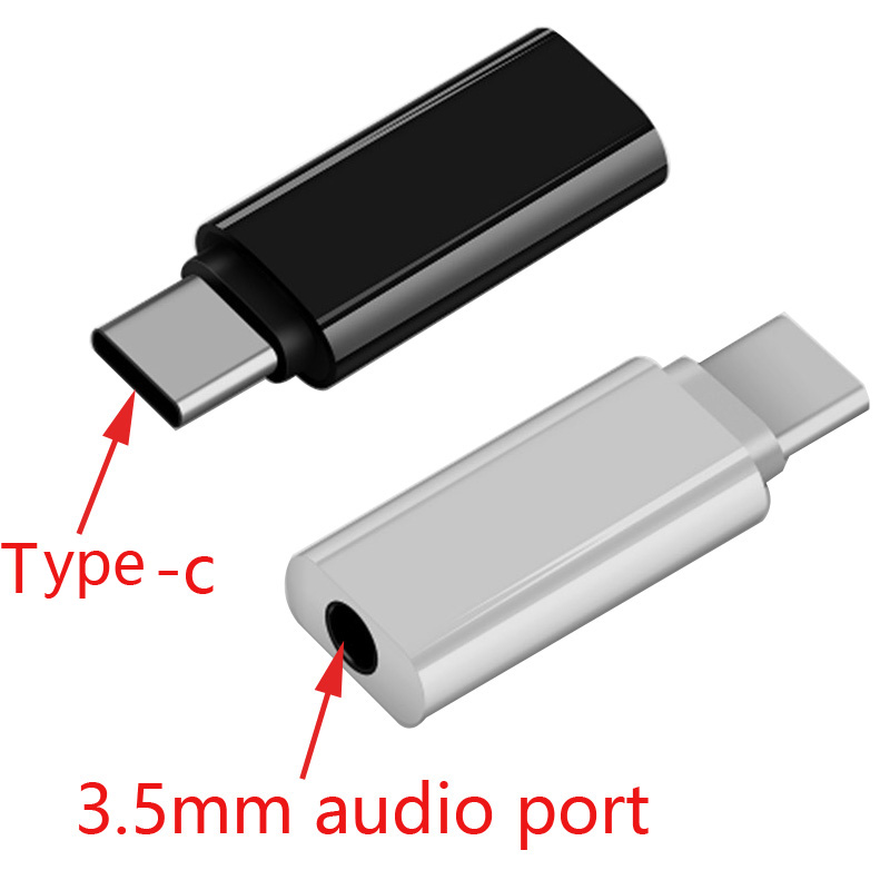 1-10Pcs Type C Headset Adapter Type-c Audio Adapter Cable 3.5MM Adapter For Huawei Xiaomi Mobile Phone