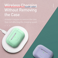 Baseus Silicone Case For Airpods Pro Wireless Bluetooth Earphone Case for Apple Airpods pro Case Cover Earphones for Air Pod Pro