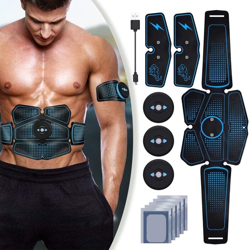 Ems quadril estimulador muscular abdominal trainer abs equipamentos de fitness usb eletroestimulação abdômen exercitador treino em casa ginásio