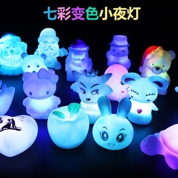 New Home Night Lamp Creative LED Silicone Eye Protection Night Light Bedside Decoration Atmosphere Lamp Carton Light Lamp creative strawberry silicone led night light eye protection touch atmosphere lamp children cartoon usb charging table lamp