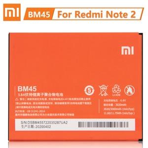 Image 2 - Xiaomi Originele Vervangende Batterij BM45 BM46 BN41 BN43 Voor Xiaomi Redmi Note 2 Batterij Redmi Note 3 Pro Batterij Redmi opmerking 4 4X
