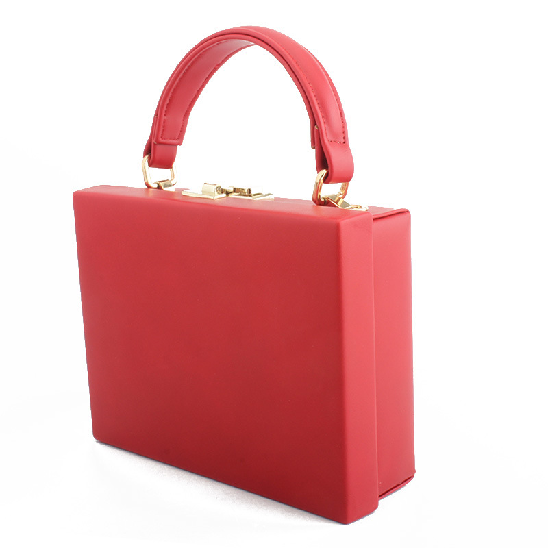 Sac de soirée sac à bandoulière carré couleur unie pour femmes