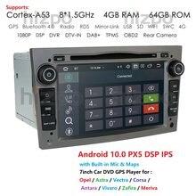4G + 46G Android 10,0 2 Din Gps para coche para opel Astra H Vectra Antara Zafira Corsa Vivaro Meriva Veda reproductor de Dvd