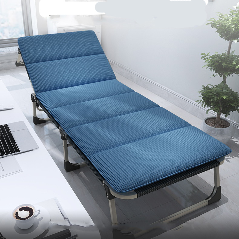 Multifunctional Folding Bed Single Office Nap Bed Lunch Break Recliner Home Escort Portable Camp Bed