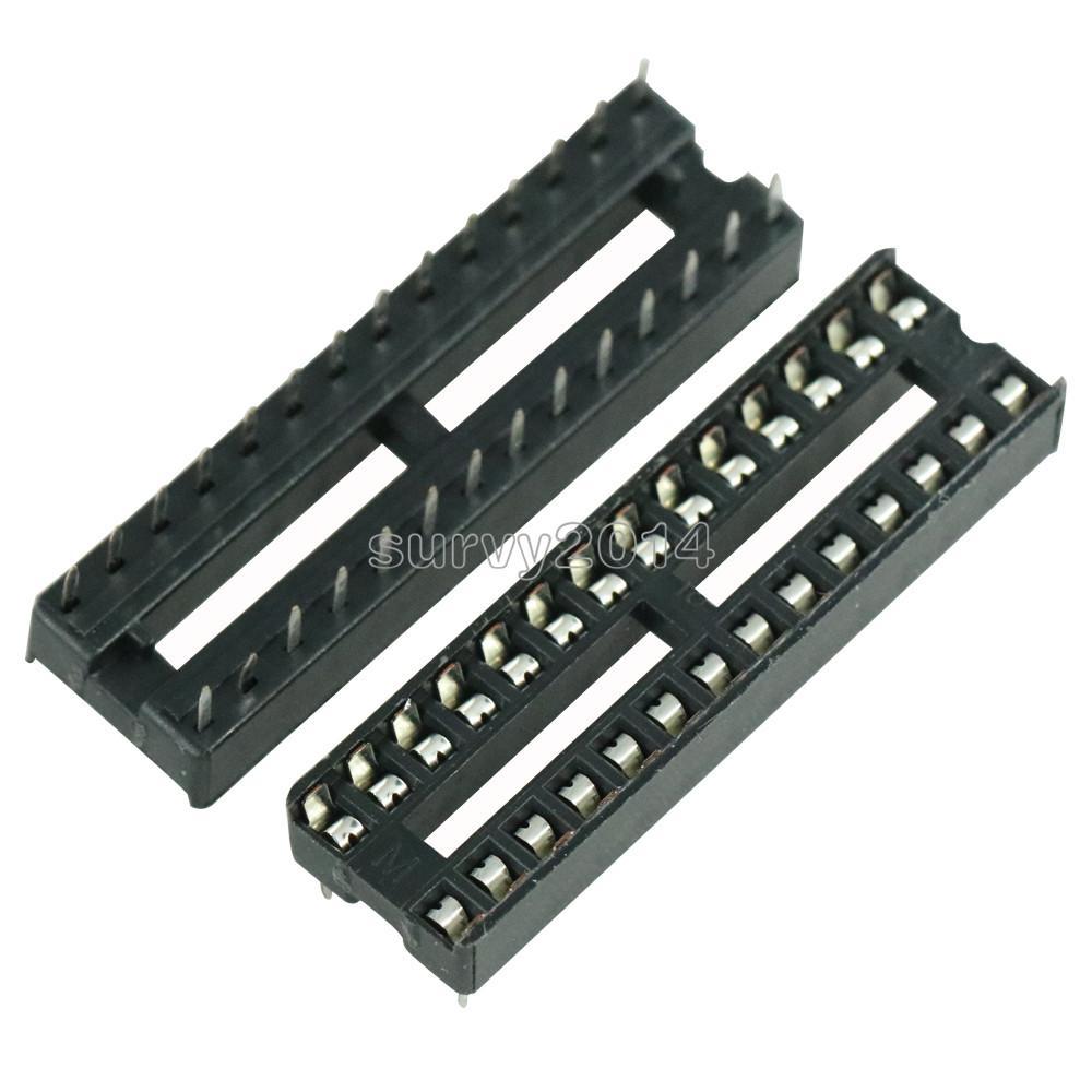10 Pcs DIP-28 28 PIN 28PIN DIP IC Sockets Adaptor Solder Type Narrow