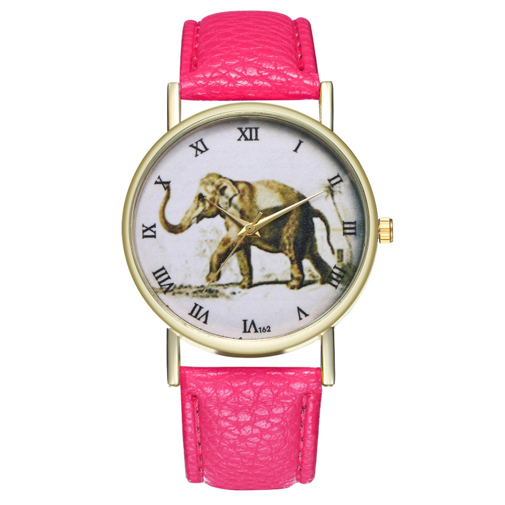 High-quality Women Watch Quartz Wristwatch Elephant Leather Strap Quartz Fashion Watch For Friends Elephant Shape Dial 2018 New