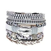 Bohemia bracelets for women fashion leather female gifts jewelry