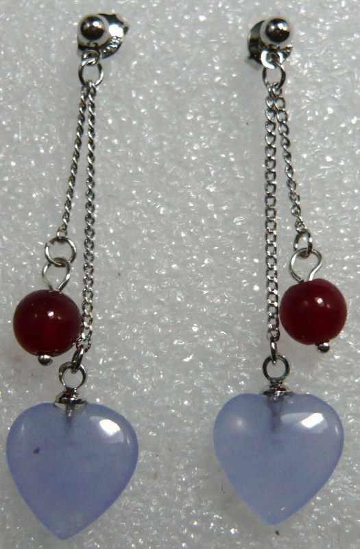 + + + 2 escolhas por atacado roxo coração combinar branco concha pérola/vermelho pedra fashon brincos 5.29