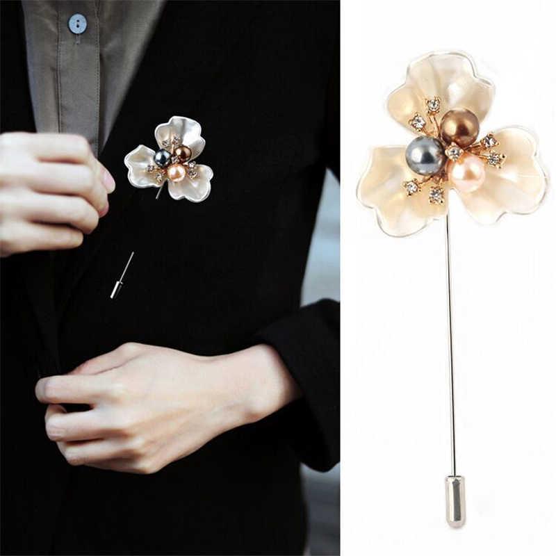 Doreen Box Elegan Fashion Camellia Pin Mutiara Bros Jarum Rose Bros Bunga Bros Pin Aksesoris Perhiasan 1 Pc