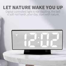 Зеркальный светодиодный дисплей таймер времени Многофункциональный