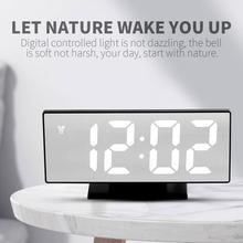 цена на Mirror Surface LED Display Time Timer Multi-Functional Timepiece Alarm Clock Home Automatic