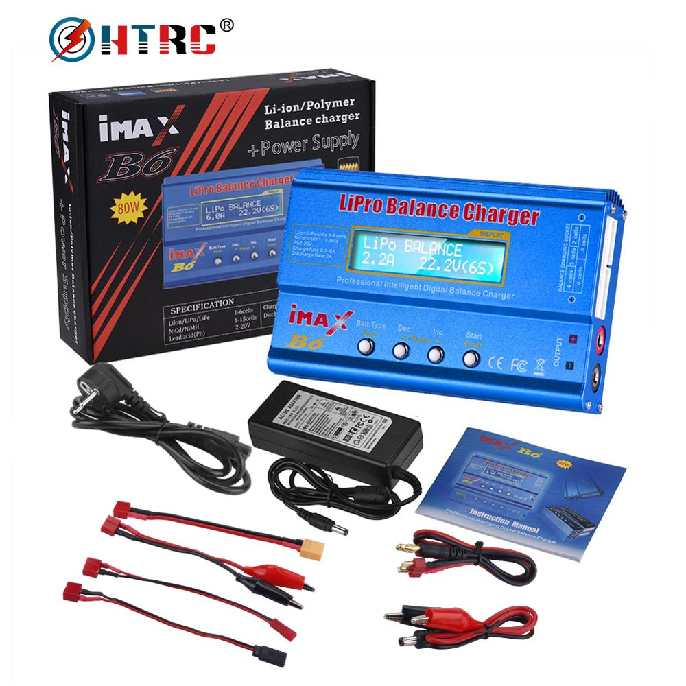 HTRC Charger Battery Digital Lipo Nimh Imax B6 Li-Ion Ni-Cd 80W title=