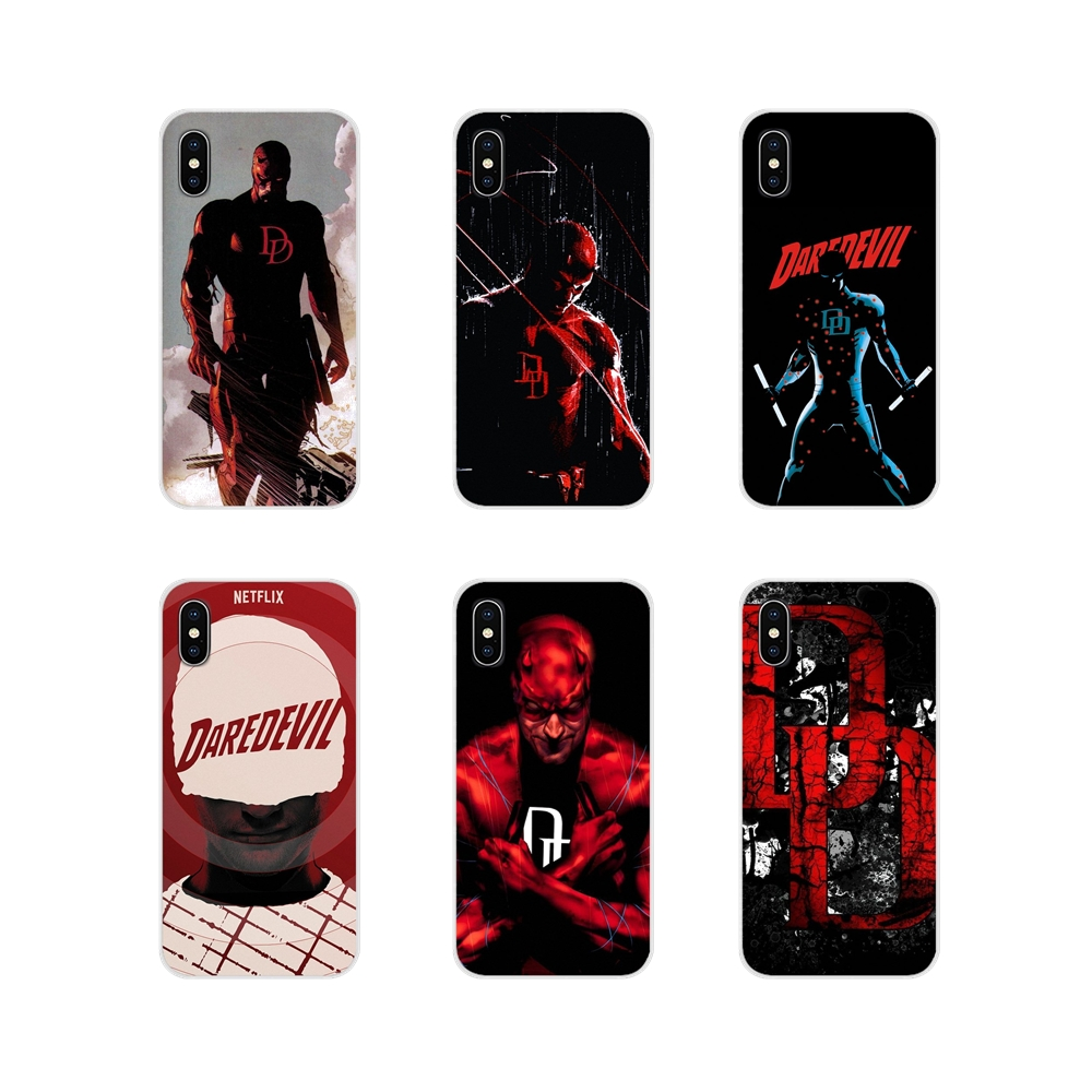 Transparent Soft Case Covers Marvel Comics Daredevil Red For Samsung A10 A30 A40 A50 A60 A70 Galaxy S2 Note 2 3 Grand Core Prime image