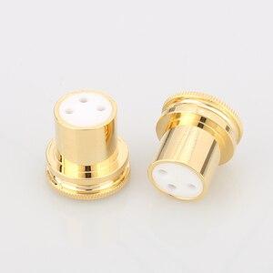 Image 5 - 하이 엔드 노이즈 스토퍼 금도금 구리 XLR 플러그 캡 XLR 보호 캡 3 핀 XLR 암 소음 감소 캡