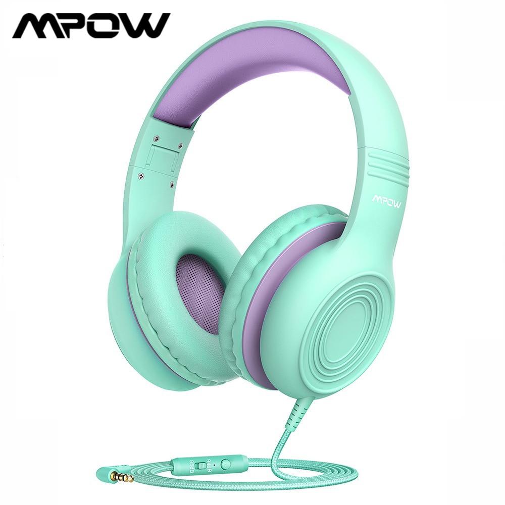 Mpow CH6S śliczne dzieci słuchawki składane słuchawki douszne z 85dB objętość ograniczona ochrona słuchu słuchawki z mikrofonem