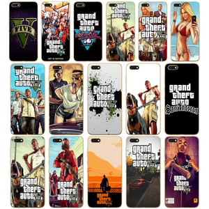 33DD Grand Theft Auto GTA V Soft Silicone Cover Case for Huawei honor 9 10 Lite 7A 5.45 7a pro 7c 5.7 inch 7x 8x case(China)