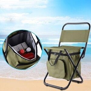 Image 2 - Çok fonksiyonlu açık katlanır tabure taşınabilir buz torbası taburesi yalıtım çantası balıkçı taburesi plaj sandalyesi hafif tabure