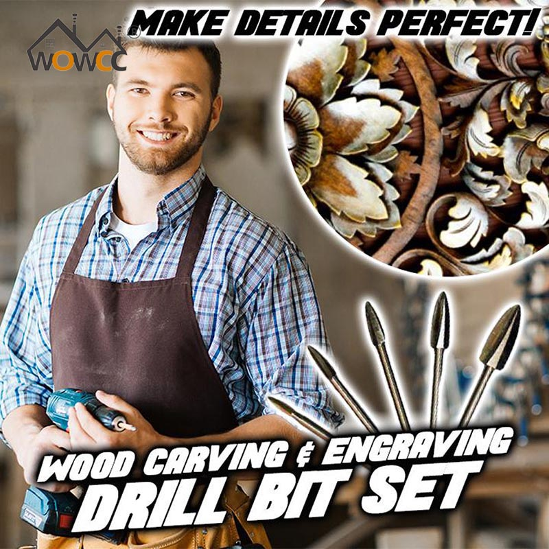 Wood Carving And Engraving Drill Bit Milling Root Cutter Carving Tools 5PCS/Set