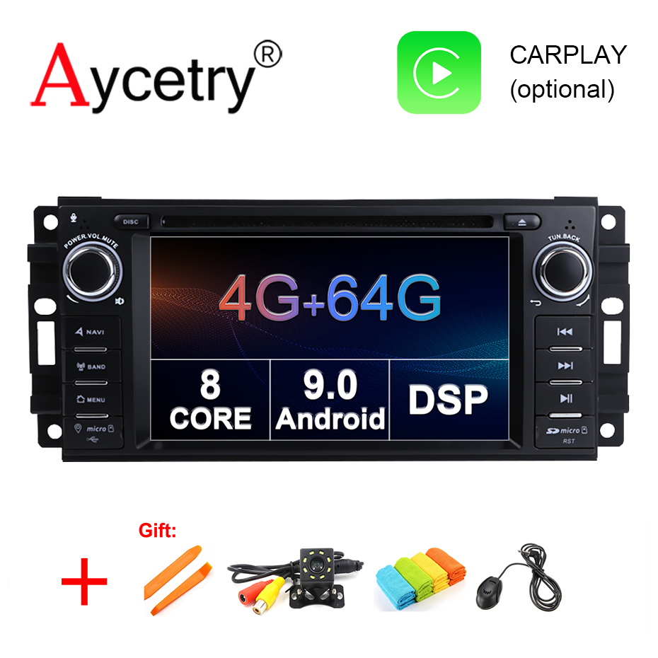 4G 64G DSP Android 9 0 Car Multimedia DVD Player GSP stereo For Chrysler 300C jeep