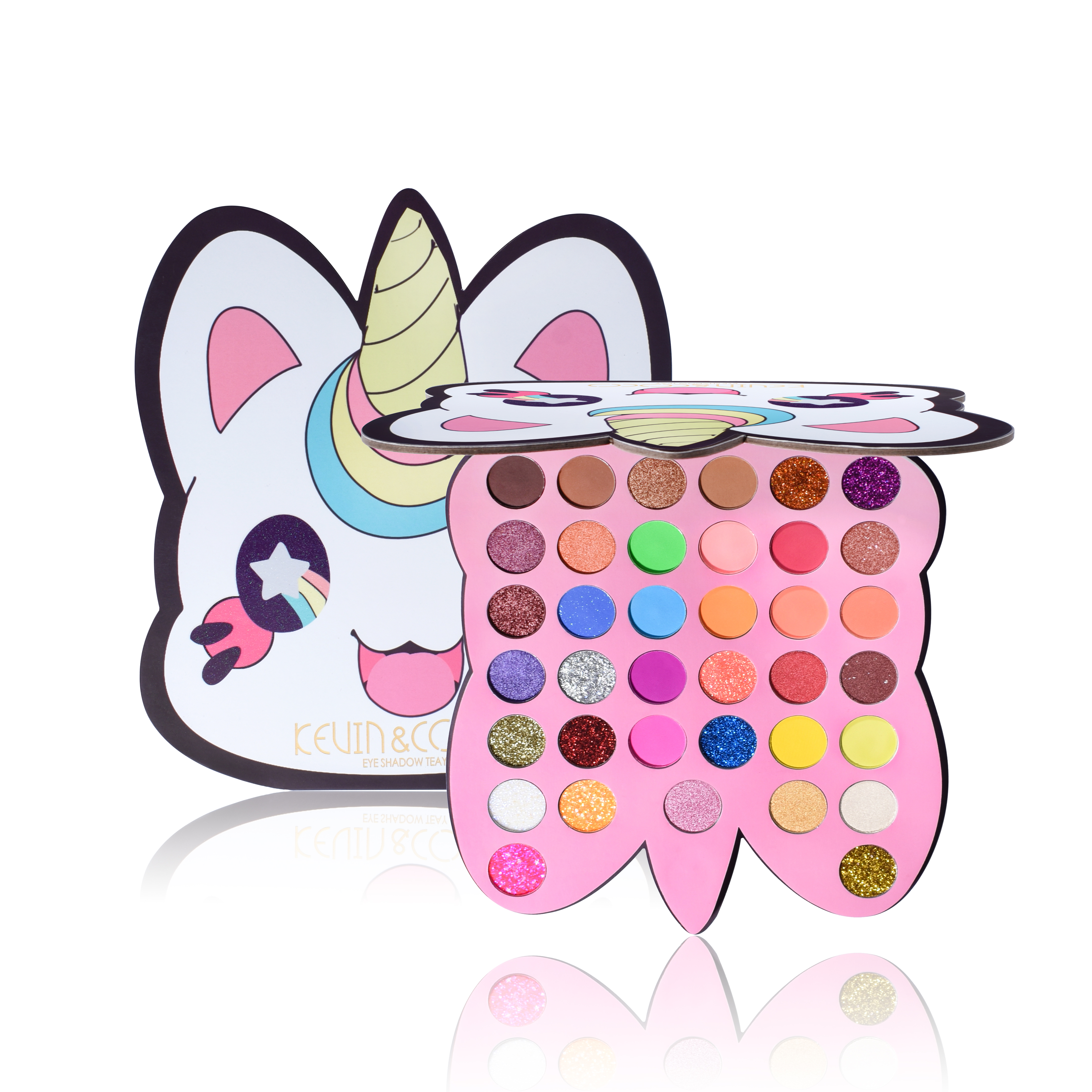 37 Color New Charm Cute Unicorn Face Eyeshadow Pallete Glitter Makeup Shimmer High Pigment Eye Shadow Palette Make Up Cosmetic