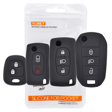 Silikon anahtar kılıfı Fob Citroen için uzaktan kapağı C1 C2 C3 C4 C5 DS3 DS4 Picasso Xsara Peugeot 107 206 308 için 307 3008 5008 uzman