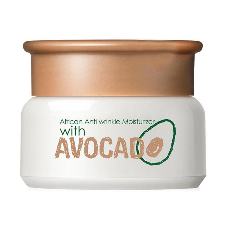 African Anti Wrinkle Moisturizer Avocado Face Cream Facial Moisturizer Oil Cream Skin Care  Soothing Hydrating Cream 35g