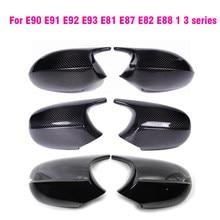 Cubiertas de espejo retrovisor para Bmw Serie 3 E81 E82 E87 E88 E90 E91 E92 116i 118i 120i 320i 328i 330i de fibra de carbono negro brillante
