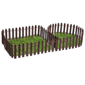 Image 4 - 미니어처 우드 펜싱 Decors DIY 요정 정원 마이크로 인형 집 게이츠 장식 장식 화이트/커피 색상 100*5cm/100*3cm