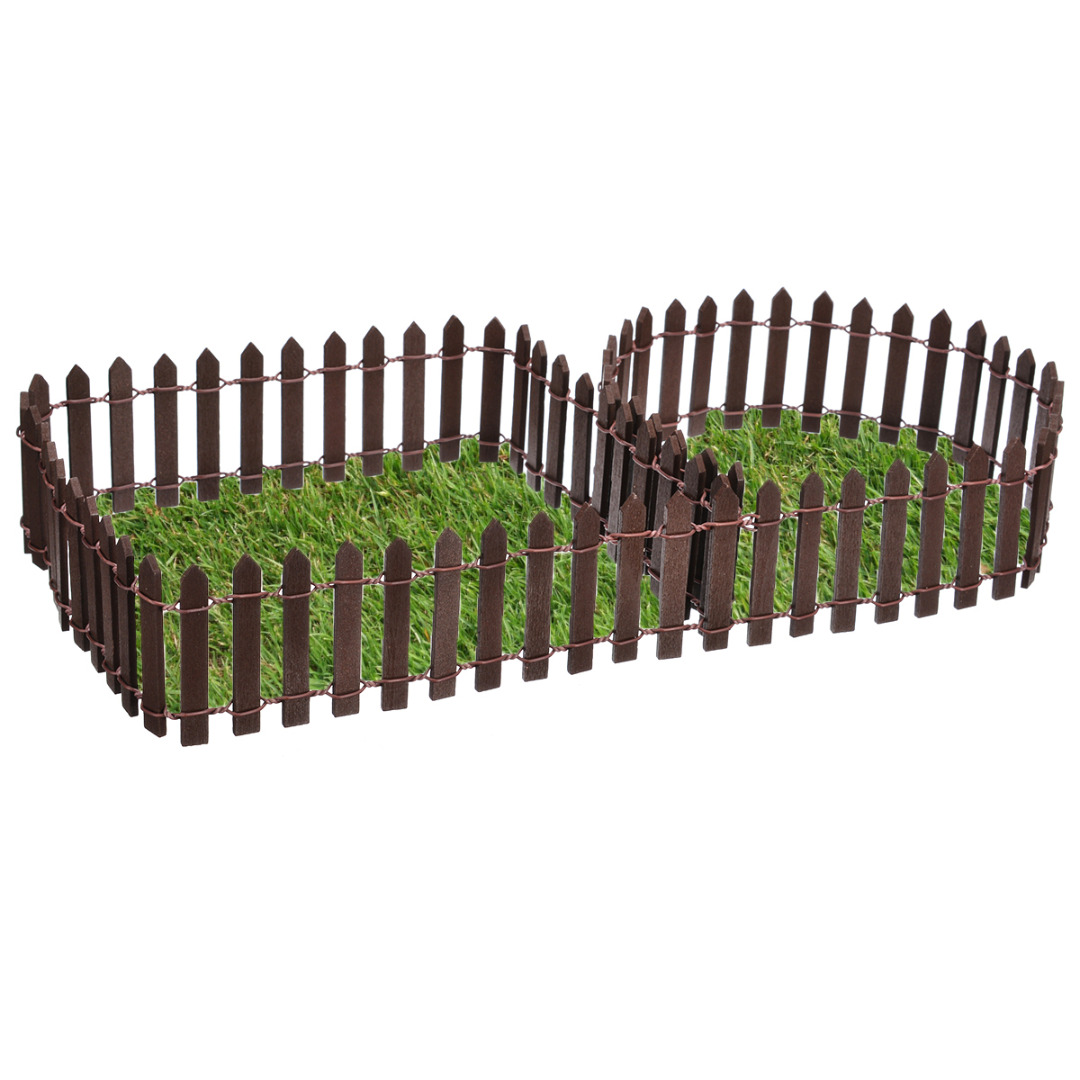 Image 4 - Miniature Wood Fencing DIY Fairy Garden Micro Dollhouse Gates Decor Ornament White/Coffee Colors 100*5cm/100*3cm-in Fencing, Trellis & Gates from Home & Garden