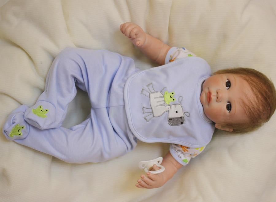 20 Inch Handmade Reborn Baby Doll Newborn Lifelike Dolls Soft Silicone Vinyl Boy New