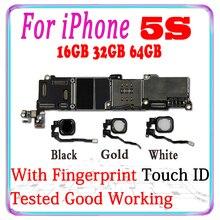 Ücretsiz kargo orijinal Unlocked iphone 5 S için anakart ile dokunmatik kimliği iphone 5 S 5 S mantık kurulu tam çip levha
